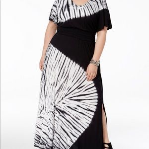 Plus Size Tie Dyed Maxi Dress by INC 3X